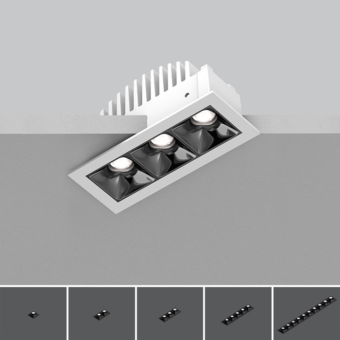 Cluster Recessed<br/>Downlight Linear