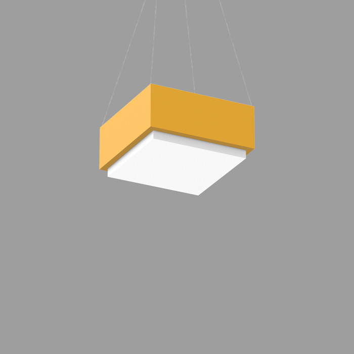 POPCOLOR 11 SQUARE PENDANT 1D YELLOW