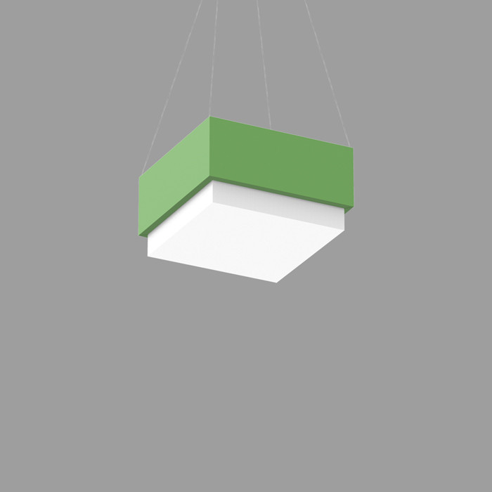 POPCOLOR 11 SQUARE PENDANT 2D GREEN