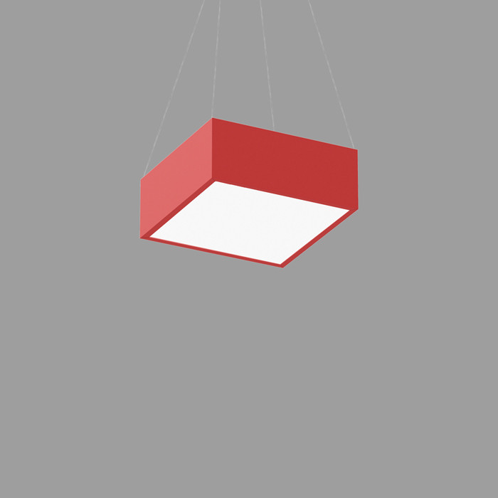POPCOLOR 11 SQUARE PENDANT FLUSH RED