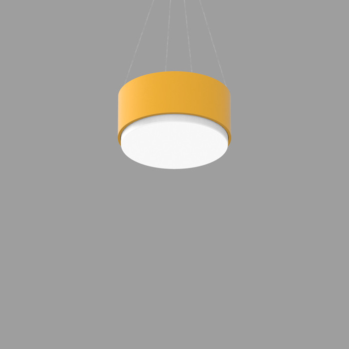 POPCOLOR 12 ROUND PENDANT 1D YELLOW