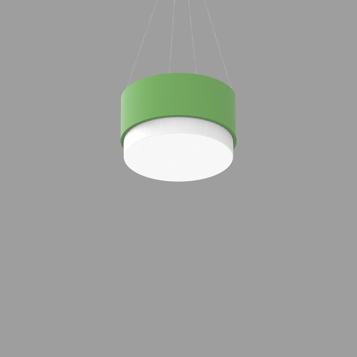 POPCOLOR 12 ROUND PENDANT 2D GREEN