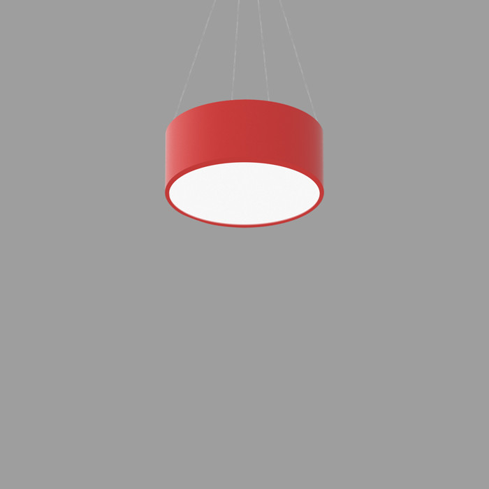 POPCOLOR 12 ROUND PENDANT FLUSH RED