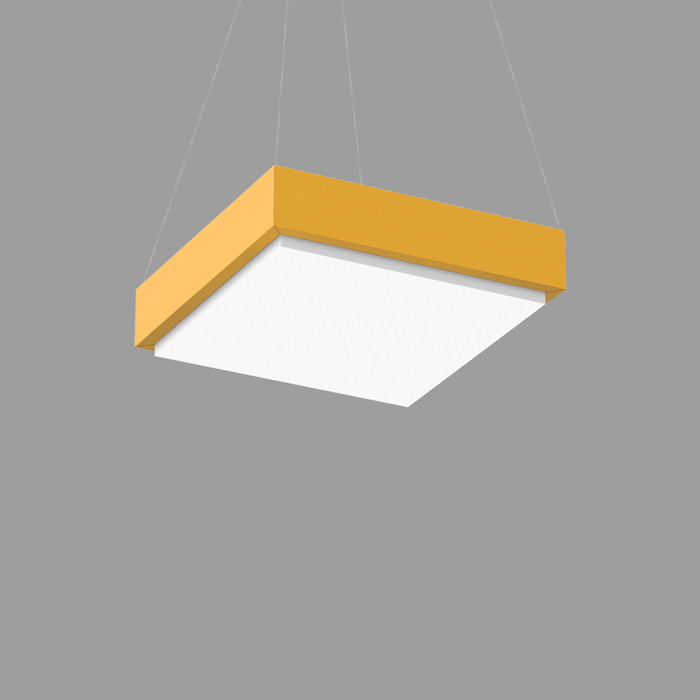 POPCOLOR 22 SQUARE PENDANT 1D YELLOW