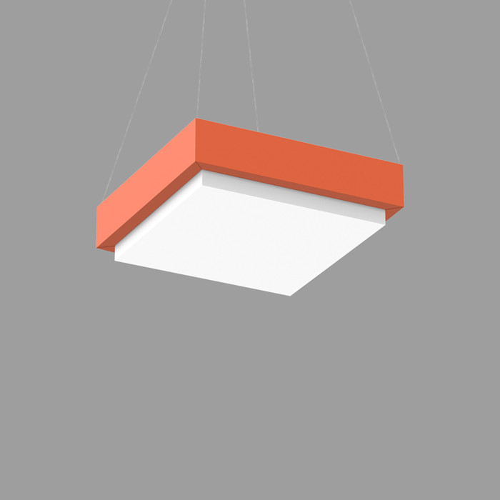 POPCOLOR 22 SQUARE PENDANT 2D ORANGE