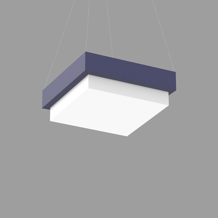 POPCOLOR 22 SQUARE PENDANT 4D BLUE