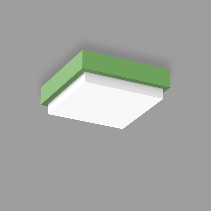 POPCOLOR 22 SQUARE SURFACE 3D GREEN