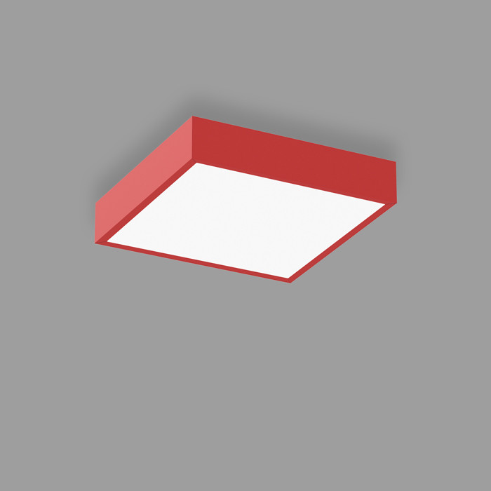 POPCOLOR 22 SQUARE SURFACE FLUSH RED