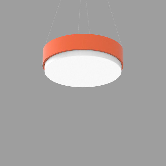 POPCOLOR 24 ROUND PENDANT 2D ORANGE