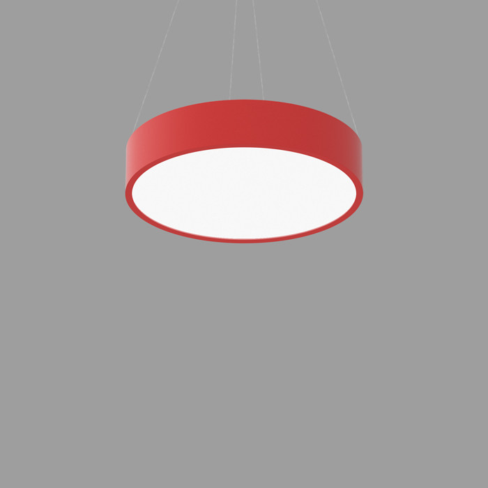 POPCOLOR 24 ROUND PENDANT FLUSH RED