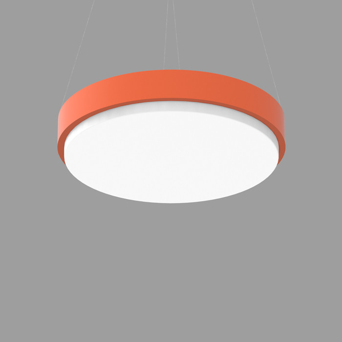 POPCOLOR 36 ROUND PENDANT 2D ORANGE