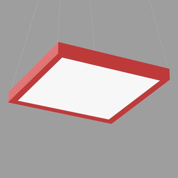 POPCOLOR 44 SQUARE PENDANT FLUSH RED