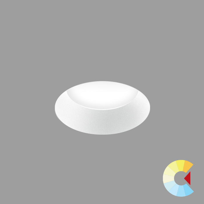 Voila 2 Adj. Downlight<br/>Round Trimless Standard